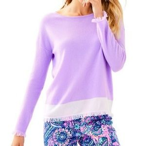 Lilly Pulitzer Fairfax Cashmere Sweater, Lilac, S